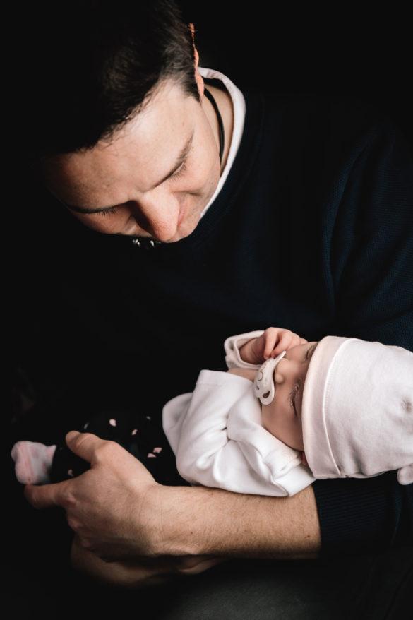 Lena mit Papa
