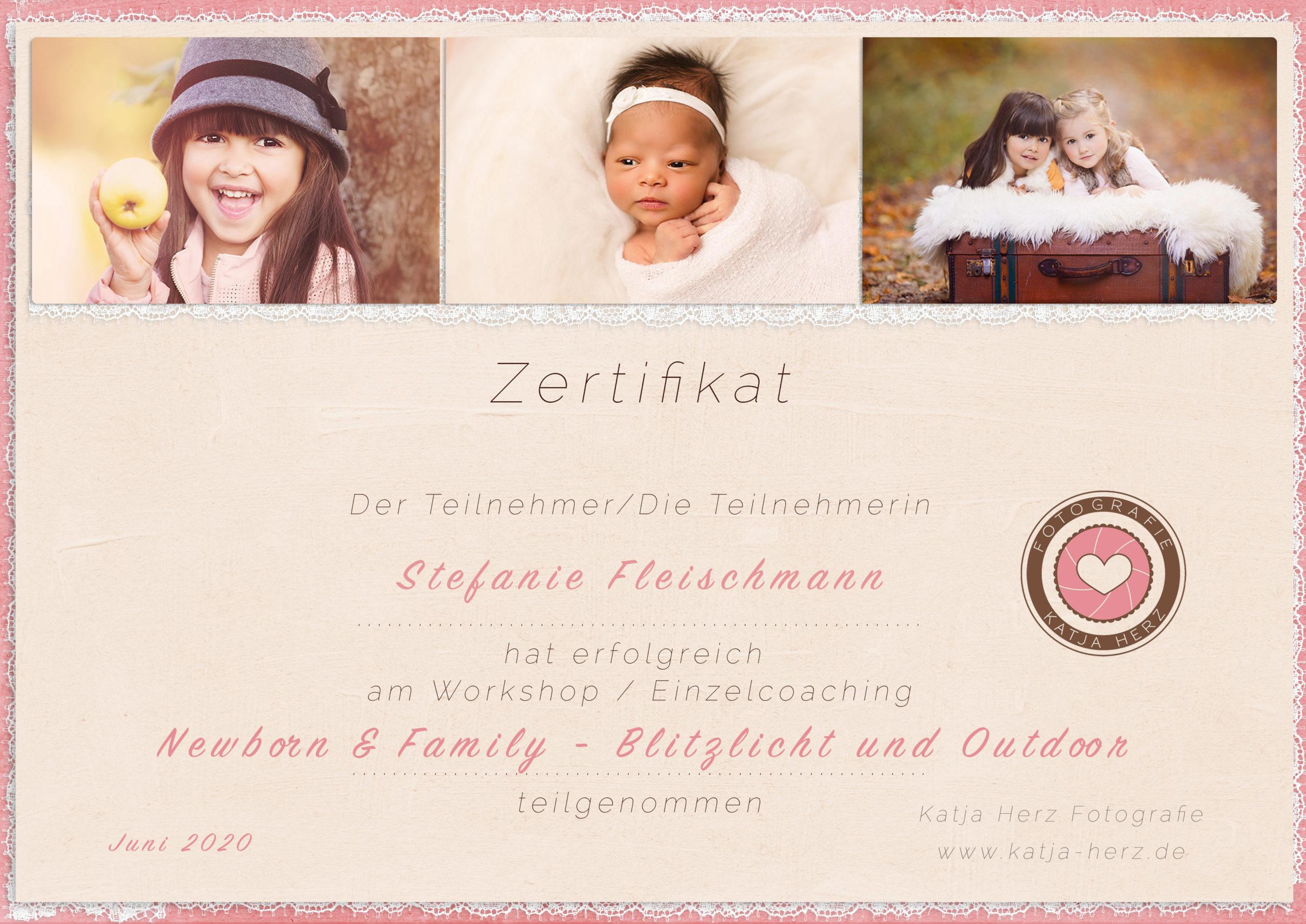 Augenblicke Stefanie Fleischmann Fotografie Newborn Workshop Zertifikat