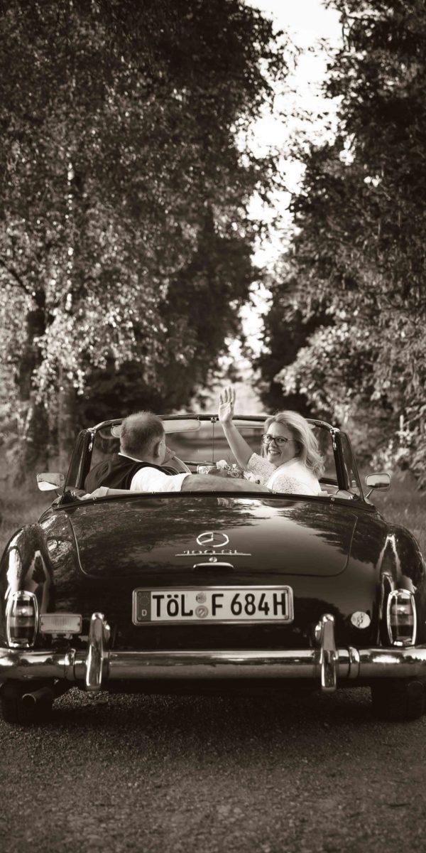 Stefanie Fleischmann Hochzeitsbilder Auto